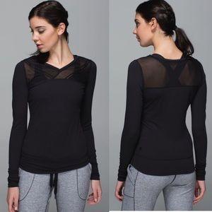 Lululemon | Just Breath Long Sleeve Top in Black